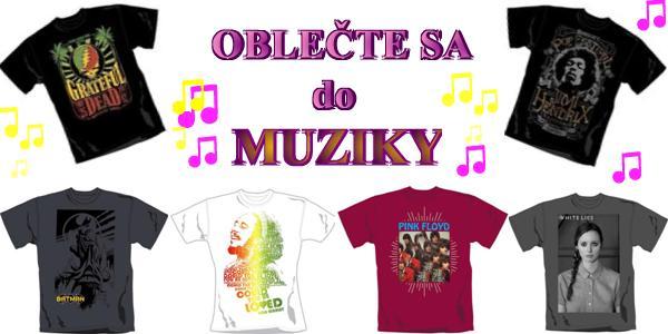 Nové tričká v ponuke - oblečte sa do muziky