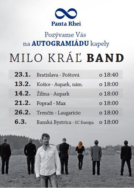 Milo Kráľ Band - autogramiáda v Panta Rhei